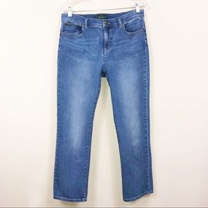 Ralph Lauren Stretch  Straight-Leg Jeans Sz 12P